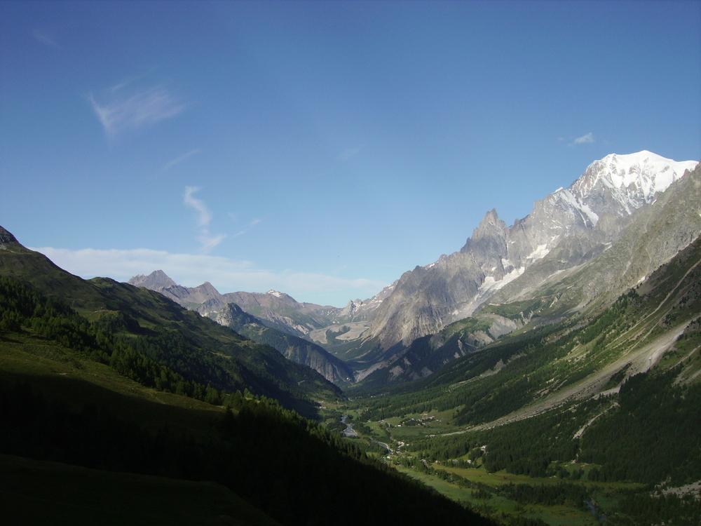 Tour del Monte Bianco panorama