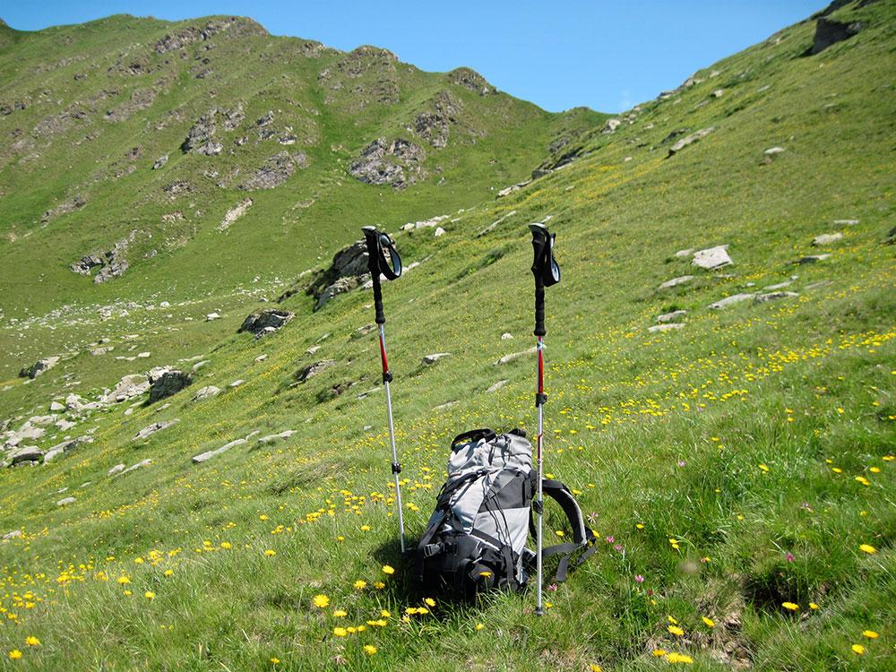 trekking zaino